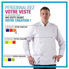 veste de cuisine homme personnalisable veste cuisine personnalise pour cuisine personnalisee label