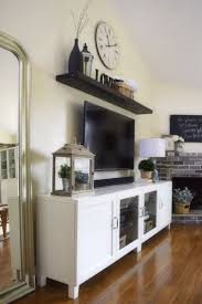 I Liked The Idea She Took 2 Smaller Cabinets And Mounted Them Together Good To Above Tv DecorLiving