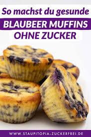 gesunde blaubeer muffins ohne zucker staupitopia zuckerfrei