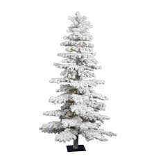 75 Slim Flocked Christmas Tree by 33 Best Flocked U0026 Frosted Trees Images On Pinterest Light Bulb