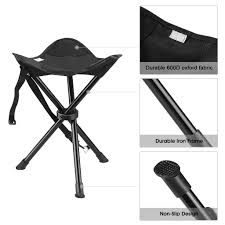 100 Folding Chair With Carrying Case ENKEEO Portable Tripod Stool With For