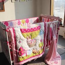 7Pcs Baby bedding set Embroidery 3D Hot air balloon rabbit fox owl