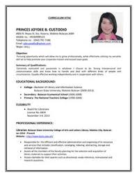 Resume Sample Format Pdf 80 Images Template Examples Job
