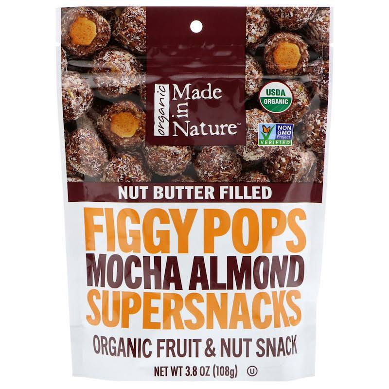 Made in Nature Organic Figgy Pops Supersnacks - Mocha Almond, 3.8oz