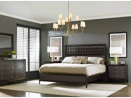 Black Rattan Bedroom Furniture With Area Rug And Chandelier For Decoration Ideas
