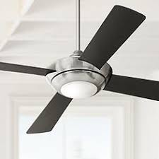 Brushed Nickel Ceiling Fan With Gray Blades by Black Ceiling Fans Lamps Plus