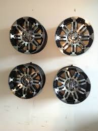 100 16 Truck Wheels Set 4 Vision Warrior 6 Lug Chevy Rim Black Machined