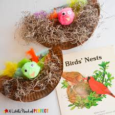 Paper Plate Bird Nest Craft The Kids Will Cheep About Perfect For Learning Birds