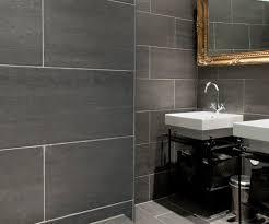gray slate bathroom tile on interior home addition ideas
