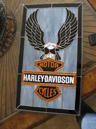 Harley Davidson Bathroom Decor by Stained Glass Craftsmen Harley Davidson Stained Glass