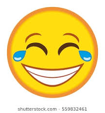 Smiley Laughing Hard Emoticon With Tears In Eyes Illustration