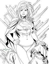 Printable Coloring Page Of Womn Superhero Supergirl