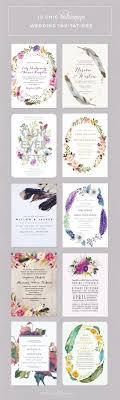 Top 10 Boho Wedding Invitations Pretty Florals Feathers