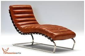 vintage leder relaxliege braun design liege