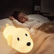 baby nachtlicht ptn hund nachtlicht für baby kinder nachttischle safe soft silicone hund glühbirne mit mehrfarbiger le süße nachtle