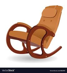 100 Unique Wooden Rocking Chair Rocking Chair Vector Image On VectorStock