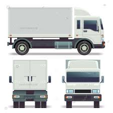 Small Truck Front Back Side View Vector Illustration 42346 - Vectorplace