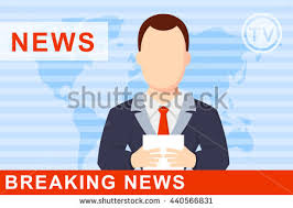 Anchorman On Broadcast Stock Vector A Globe News Clipart