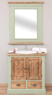 casa padrino landhausstil badezimmer set hellgrün braun 1 waschtisch 1 wandspiegel massivholz badezimmer möbel im landhausstil