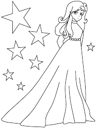 Girls Coloring Pages Beautiful Girl Colouring Page