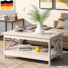 wohnzimmer modern x design couchtisch holz beistelltisch mit lagerregal 100x60x47 cm weiß geeignet für modernes wohnzimmer dekorieren sie ihr haus