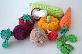 Crochet Knit Vegetables Kitchen Decor Christmas GiftPlay FoodCrochet FoodSoft ToysHandmade Toy Eco FriendlyLearning Set Of 8 Pcs