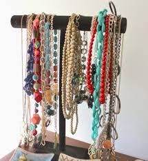 porta collane a t con assi rivestiti in velluto jewelry