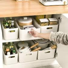 2 stücke pp machen up organizer für unterwäsche solide box küche lagerung container schlafzimmer organizer box kleine gegenstände lagerung boxen neue