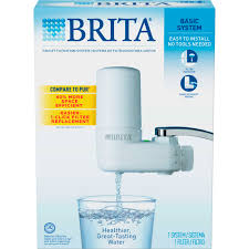 Pur Faucet Filter Replacement by Brita Basic On Tap Faucet Water Filter System Fits Standard