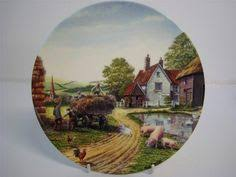 new in box wooden decorative plate with stand country cabin rustic