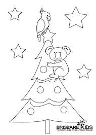 Koala Colouring In Christmas Themed