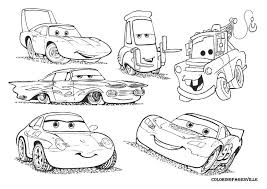 Image Of Lightning Mcqueen And Mater Coloring Pages