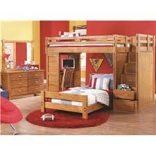 Canyon Creekside Twin Full Bunk Bed w Trundle and Ladder