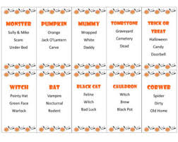 Printable Halloween Taboo Game Cards INSTANT DOWNLOAD For Your Next Classroom Party Or At Home