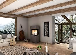 monolith moderne designöfen aus naturstein wohnzimmer