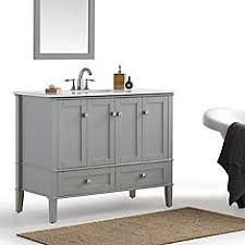 42 Inch Bathroom Vanity Combo by Glacier Bay Whitton 42 Inch W Vanity Combo With White Engineered