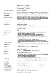 Computer Teacher Resume Example Sample IT Teaching Skills Classroom Job School Work