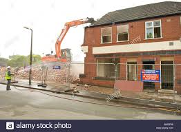 100 Houses In Preston Demolition Of Row Of Terrace Houses In Stock Photo