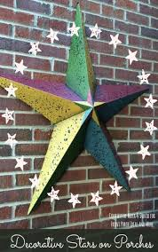 Colorful Metal Barn Star On Maya And Davids Porch Adds A Large Dose Of Personality