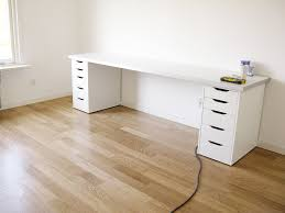 Two Person Desk Ikea by Diy Desk All Ikea Components Looks Kinda Cheap Though Maybe