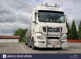 AURA, FINLAND - JUNE 20, 2014: White Man TGX 26.540 Tank Truck With ... Led Bull Bar Truck Gadgets 042018 F150 Lund W 20 Light Black 471206 Ultimate Bullbars On 24 Frier Rd Narangba Qld 4504 Whereis Bar For Dodge Ram American Car Company Hypro Bullbar Almost Every Truck Model Goinstylenl Volvo Fh V4 Stainless Steel Spot On Bars 12018 Chevy Silverado With Go Rhino Gmc Canyon 2015 3 Charger 2 Rc2 Skid Plate For Trucks Whitlock Parts 105 Abbott Hallam Dee Zee Colorado