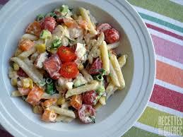 salade de pâtes et de homard recettes du québec