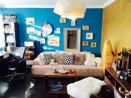 wohnzimmer in blau und gelb wohnzimmer livingroom