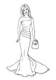 Free Printable Barbie Coloring Pages For Kids Inside Page
