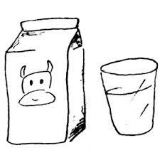 Milk black and white clipart kid