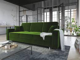 sofa 3 sitzer carde mit schlaffunktion grün