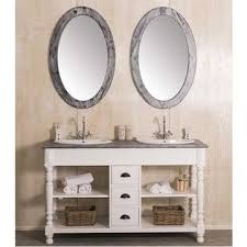 landhaus doppelwaschtisch weiß inklusive becken spiegel