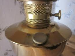 Aladdin Oil Lamps Uk by Lovely And Large Vintage Aladdin 23 Orange Glass U0026 Brass Oil Lamp