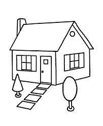 House Coloring Pages For Preschooler