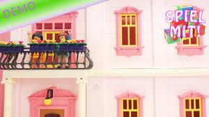playmobil puppenhaus einrichten buntes kinderzimmer und romantik bad aufbauen demo